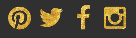 Gilded Bridal Social Icons