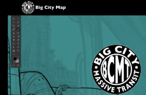Screenshot of Big City Map website