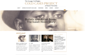 Screenshot of Emory Cold Cases website