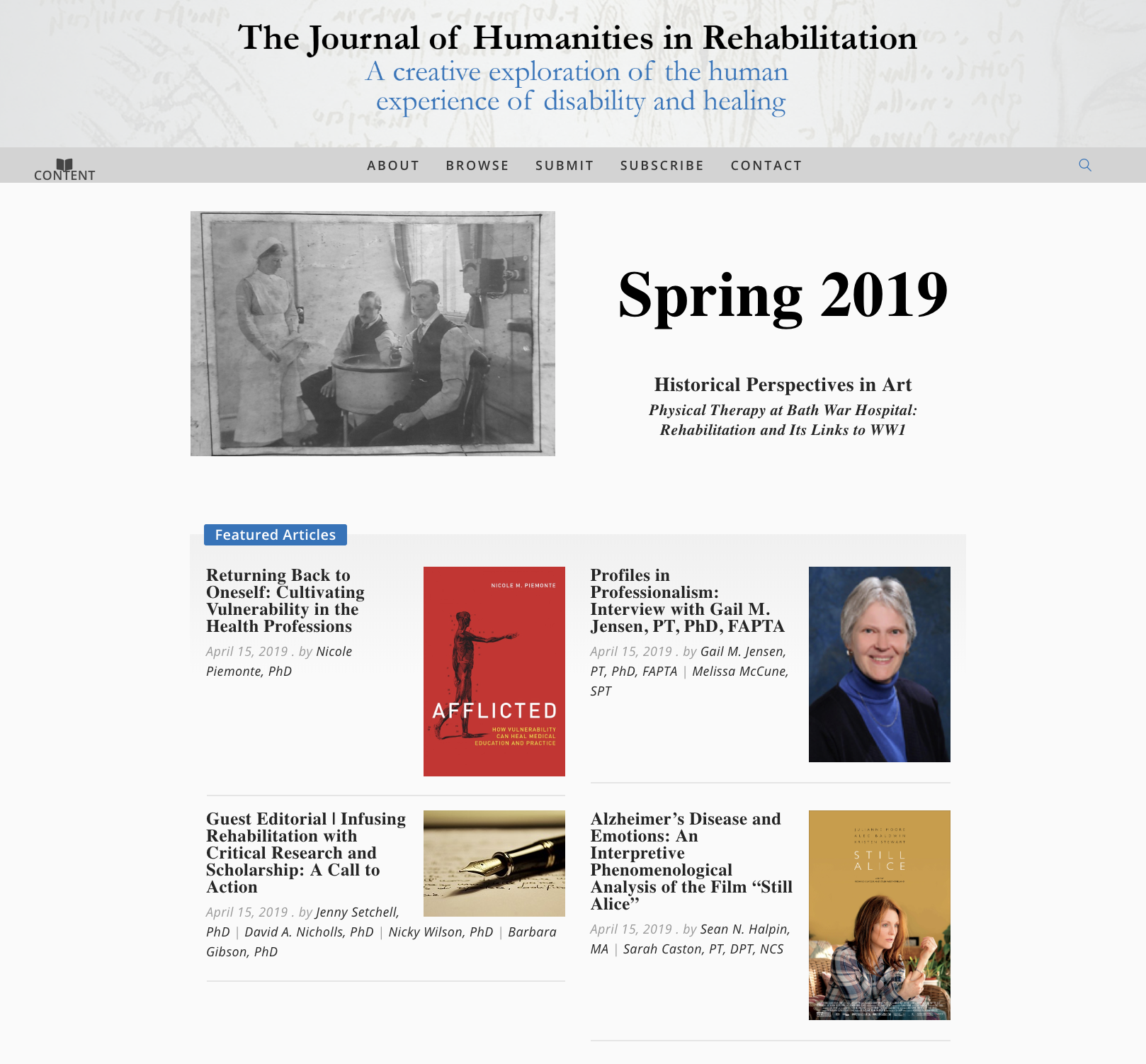 Screenshot of JHR website