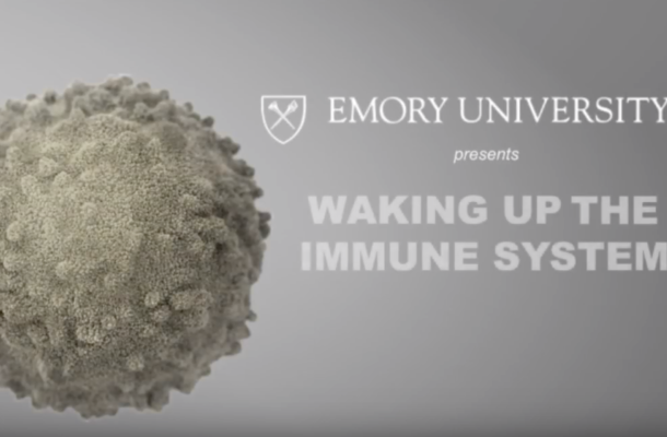 Screenshot of title of Waking Up the Immune System video